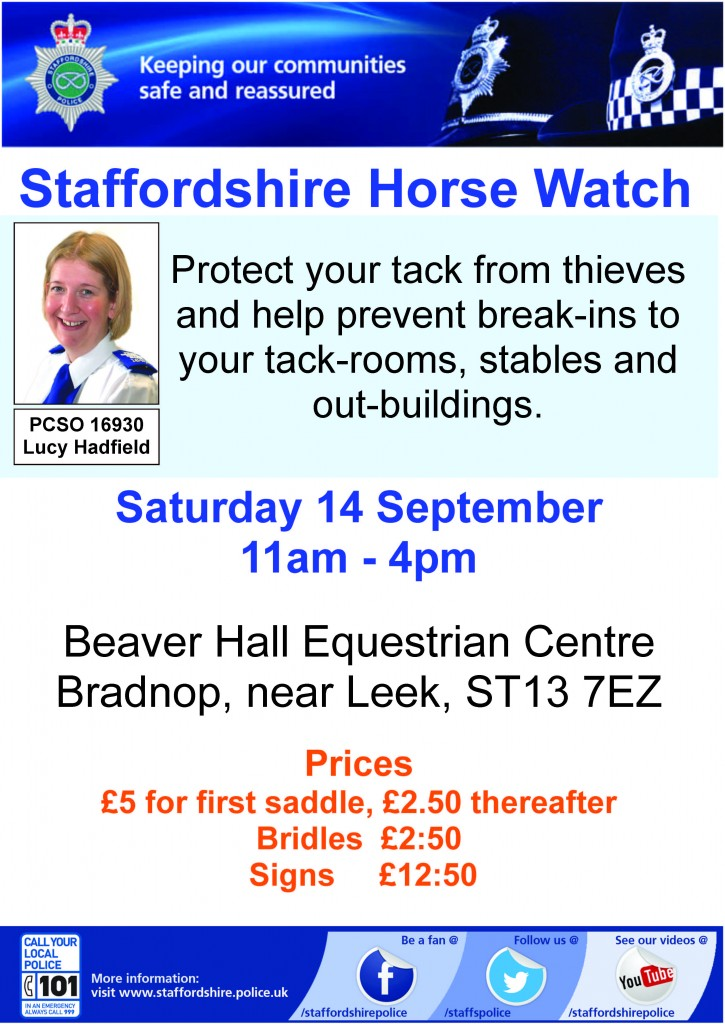 19.08.13 Horsewatch event Poster, Leek