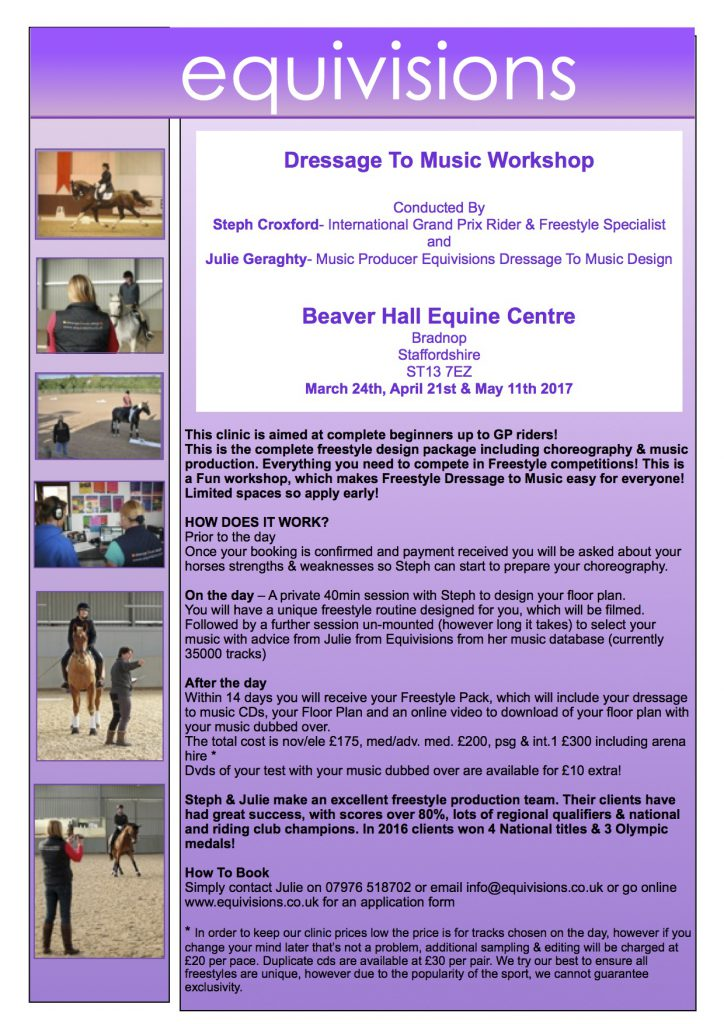 Equivisions Dressage To Music Workshop