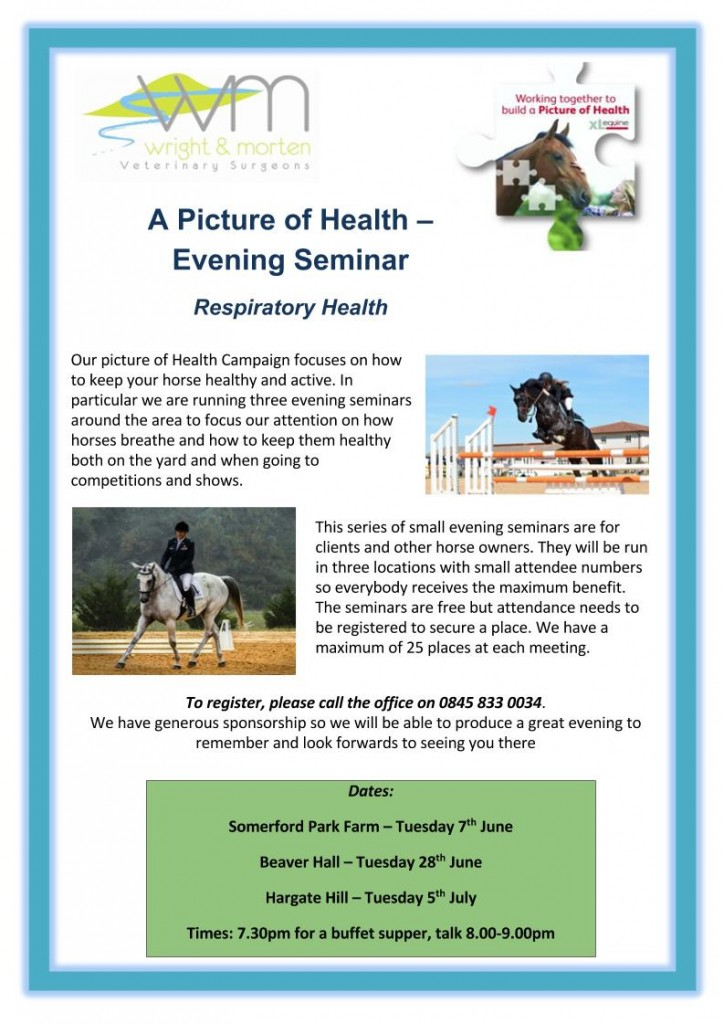 A Picture of Health Evening Seminar Poster