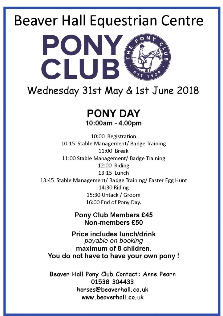 Pony Club Pony Day