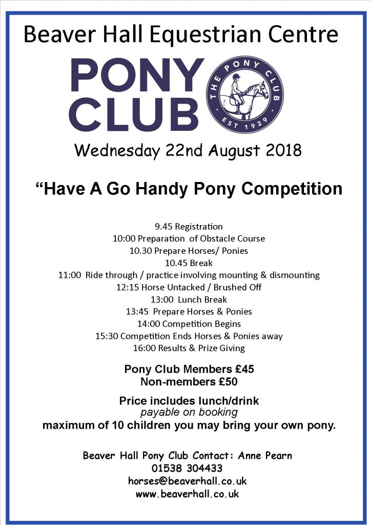 Pony Club Handy Pony Day