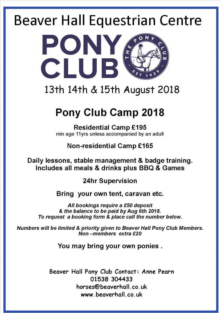 Pony Club Camp