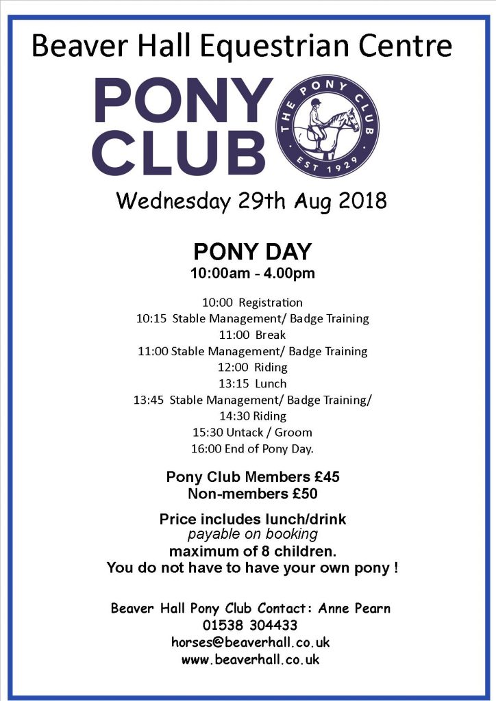 Own A Pony Day
