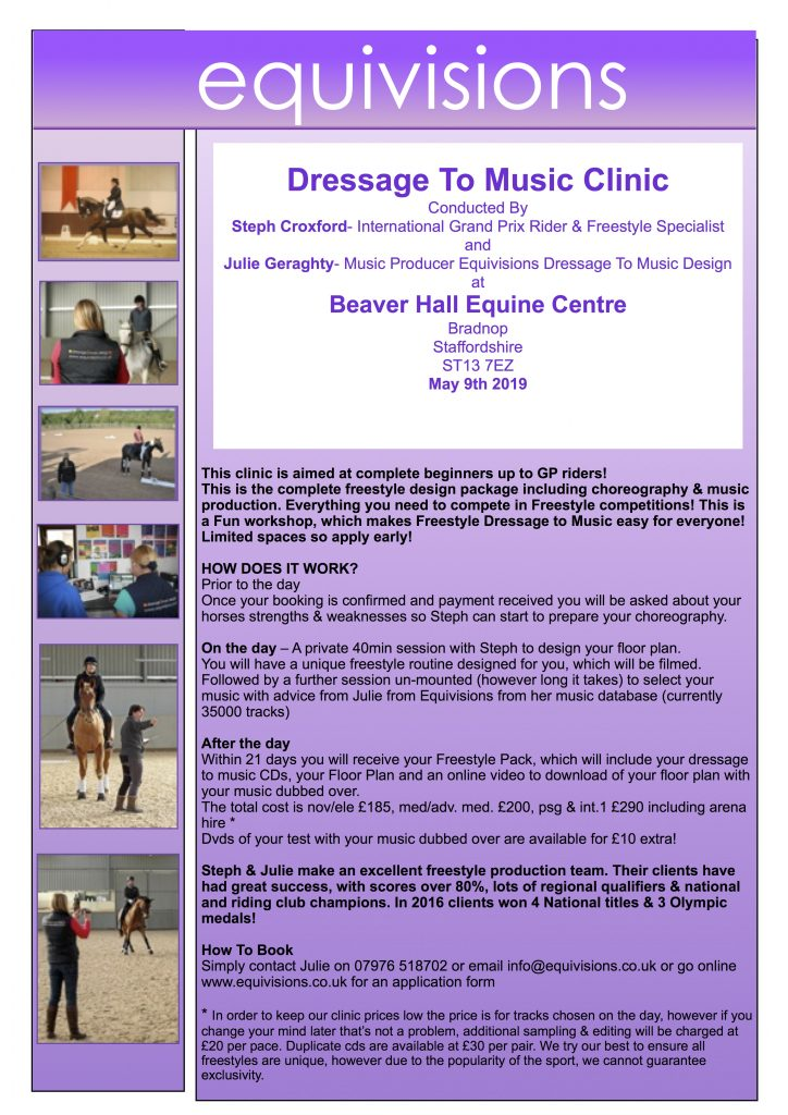 Dressage to Music Clinic
