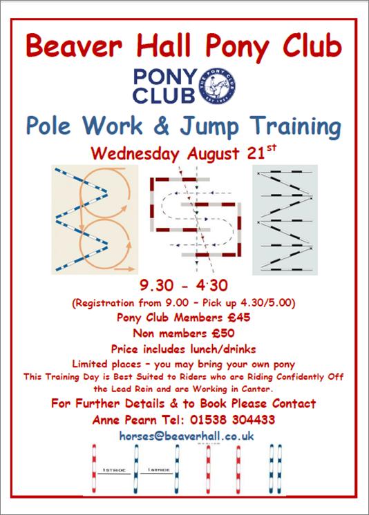 Pony Club Pole Work & Jump Training